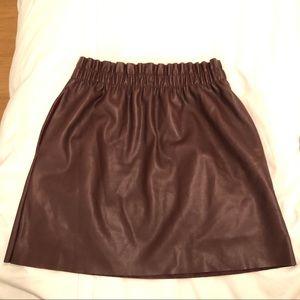 Zara faux leather maroon mini skirt! So cute